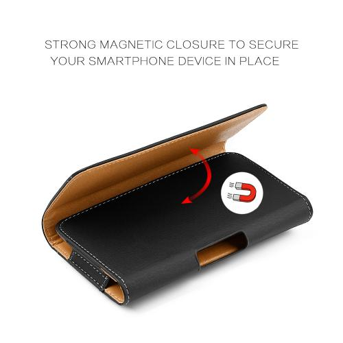 Made for Apple iPhone 8/7/6 Size Devices Horizontal Pouch in Black w/ Magnetic Closure Will not work with PLUS size devices by Redshield