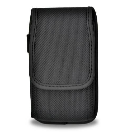 Apple iPhone 6S Plus / 6 Plus Pouch, Vertical Nylon Canvas Pouch Holster w/ Velcro Closure & Belt Clip [Black]