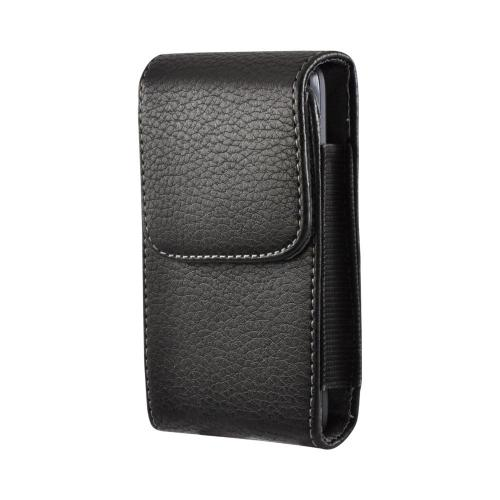Black Vertical Holster Pouch w/ Magnetic Closure & Belt Clip for HTC EVO 4G Sized Phones (PUTXL)