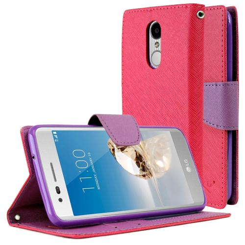 lg flip phone purple. lg aristo/ fortune case, redshield faux leather front flip cover diary wallet case w lg phone purple