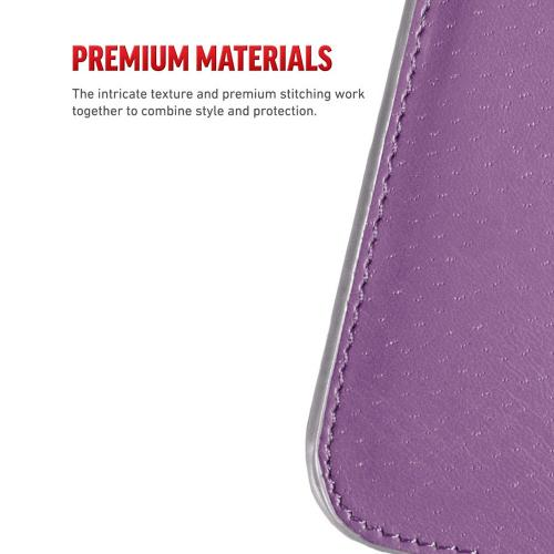 LG G6 Wallet Case, REDshield [Purple Shiny Sparkling Gem w/ Silver] Kickstand Feature Luxury Faux Saffiano Leather Front Flip Cover with Built-in Card Slots, Magnetic Flap