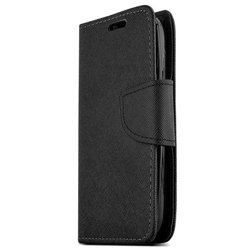 Nokia Lumia 530 Wallet Case [black] Slim & Protective Flip Cover Diary Case W/ Id Slots & Magnetic Flap Closure - Keep Everything In One Place!