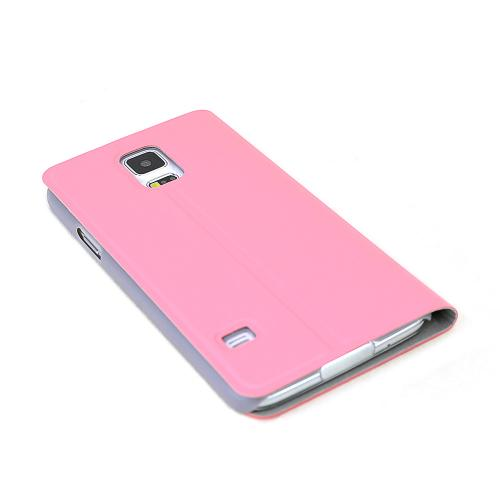 RED SHEILD Shimmery Baby Pink Diary Wallet Case Stand w/ Window for Samsung Galaxy S5