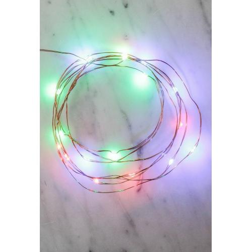 Kikkerland Multicolor String Lights [6 inches] - Decorate Your Christmas Tree or Anything!
