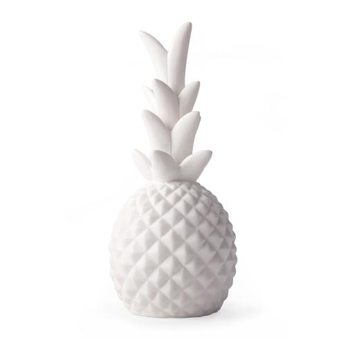 [Kikkerland] LED Lamp, Unique Pineapple LED Porcelain Light - Easy to Use & Perfect for Indoor & Outdoor Use!