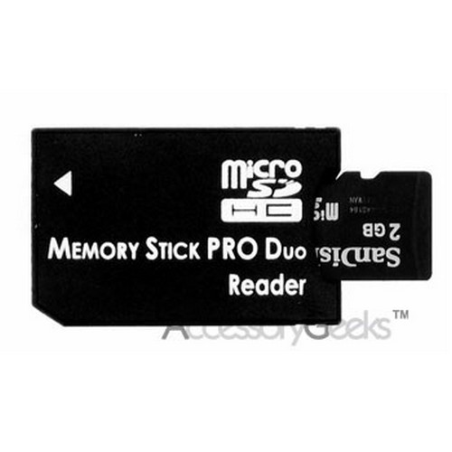 Micro SD to Pro Duo Memory Stick Adapter