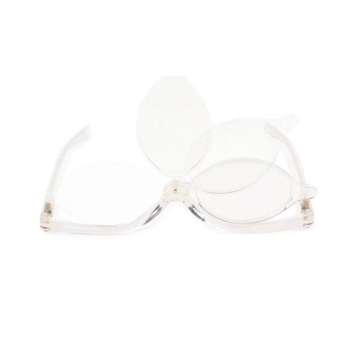 [Kikkerland] Magnifying Flip Lens Makeup Glasses [Clear]