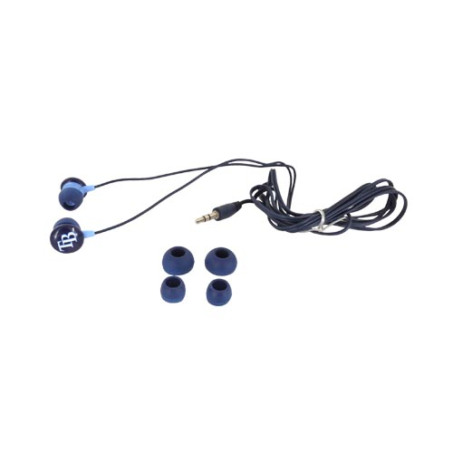 Original iHip Universal MLB Licensed Tampa Bay Devil Rays Noise Isolating Earbuds (3.5mm), MLF10169TB - Navy Blue/ White