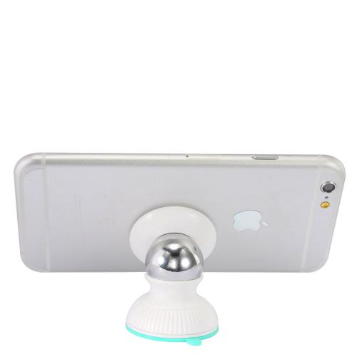 Phone Mount, Universal 360 Degree Rotating Magnetic Car Mount Holder [White/ Mint]