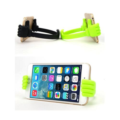 Flexible Phone Mount, Universal Desktop/ Car/ Home Stand Mount, Adjustable Thumb Hand Holder [Green]