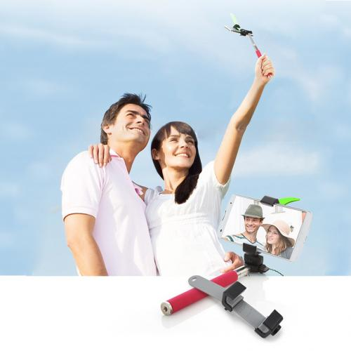 "Tripod Monopod Self-Portrait Selfie Attachment Head For Tablets/Phones - Compatible W/ 1/4"" Screw Mount"