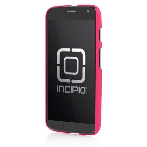 Incipio Hot Pink Feather Series Rubberized Hard Case w/ Screen Protector for Motorola Moto X(2013 1st Gen) - MT-238