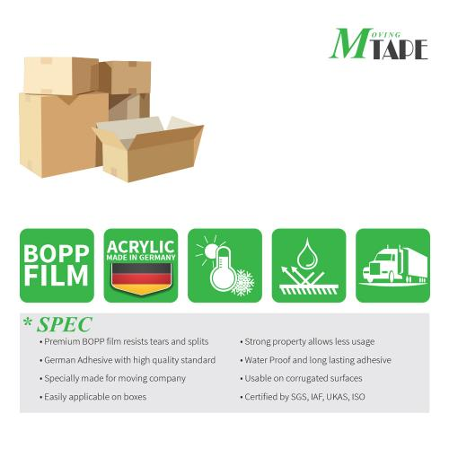 Moving / Storage Tape, 36 Rolls of Commercial Grade [M Tape- BEIGE] Value Bundle for Heavy Duty Packaging [1.9 Inches x 100 Yards]