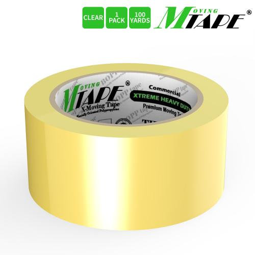 Moving / Storage Tape, 1 Roll of Commercial Grade [M Tape- CLEAR] Value Bundle for Heavy Duty Packaging [1.9 Inches x 100 Yards]