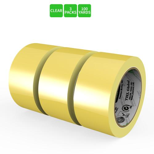 Moving / Storage Tape, 3 Rolls of Commercial Grade [M Tape- CLEAR] Value Bundle for Heavy Duty Packaging [1.9 Inches x 100 Yards]