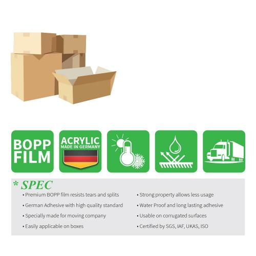 Moving / Storage Tape, 36 Rolls of Commercial Grade [M Tape- CLEAR] Value Bundle for Heavy Duty Packaging [1.9 Inches x 100 Yards]