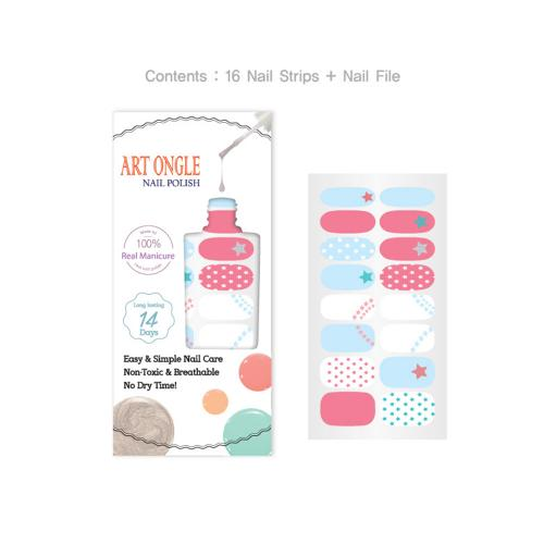 Art Ongle Nail Polish Strips, Nail Color [Rainbow Sherbet]