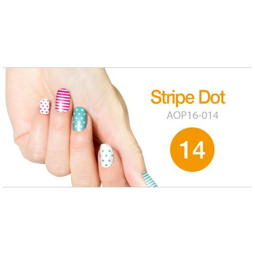 Art Ongle Nail Polish Strips, Nail Color [Stripe Dot]