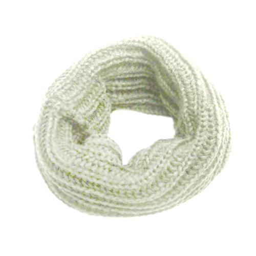 Thick Knitted Winter Neck Warmer - Mask, Beanie, Reversible Neck Gaiter, Tube [White]