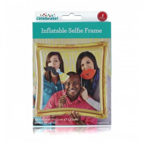 NPW Inflatable Selfie Frame. Smile and Say Selfie! with Fabulous Inflatable Frame Youll Be All Set to Take Your Best Selfies Ever. [Gold]