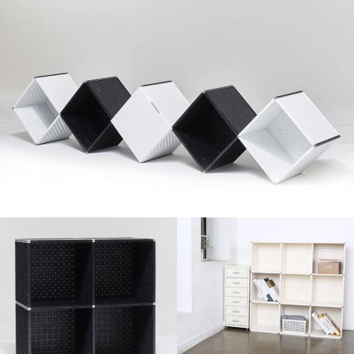 2-Tier Cube Storage Organizer, 4-Cube Shelf Cabinet, Bookcase, Closet, Etc - Can Be Wall Mounted! [White]