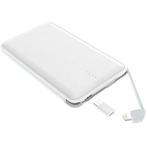 [REDshield] Powerbank, [2500 mAh] Universal Lithium-Polymer Power Bank Portable Charger w/ Integrated Micro USB, Lightning, & Type-C Adapters - Fast Charging!