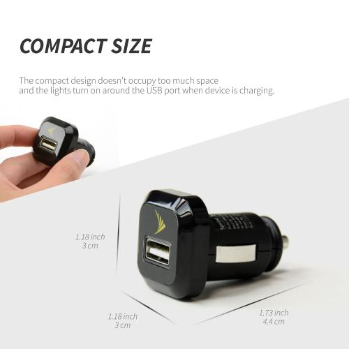 USB Car Charger Adapter (850 mAh) by Sprint® [Versatile, Compatible with both male Android chargers USB chargers]