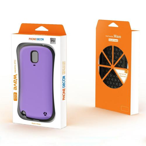 Galaxy Note 3 Dual Layer Case by REDShiled | [Purple/Black] Hard Cover on Shockproof Silicone Hybrid Case