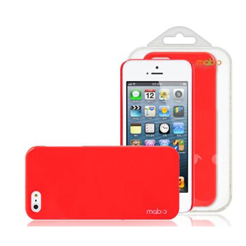 Made for Apple iPhone SE / 5 / 5S  Case, MobC [Red]  Hard Case Cover; Perfect fit as Best Coolest Design Plastic Case w/ Free Screen Protector! by Mobc
