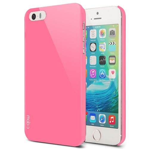 Apple iPhone SE/5/5S Case, MobC [Baby Pink]  Hard Case Cover; Perfect fit as Best Coolest Design Plastic Case w/ Free Screen Protector!