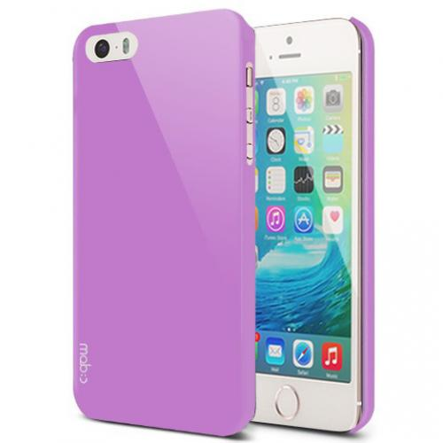 Apple iPhone SE/5/5S Case, MobC [Lavender]  Hard Case Cover; Perfect fit as Best Coolest Design Plastic Case w/ Free Screen Protector!