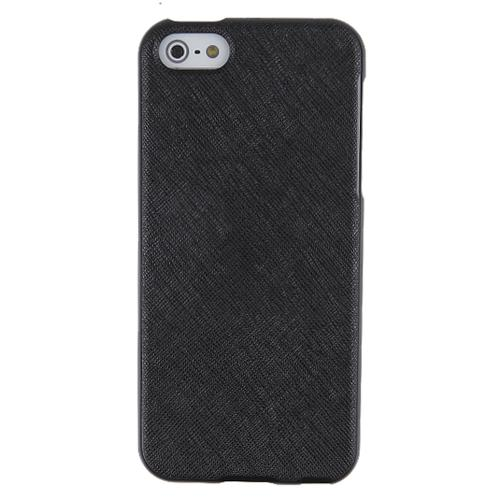 Apple iPhone SE / 5 / 5S  Case, REDshield [Black]  Anti-Slip Soft Silicone TPU Gel Material w/ Coolest Fashion Faux Leather Textured Back