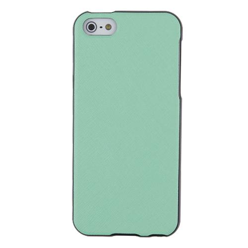 Made for Apple iPhone SE / 5 / 5S  Case, [Mint]  Anti-Slip Soft Silicone TPU Gel Material w/ Coolest Fashion Faux Leather Textured Back by Redshield