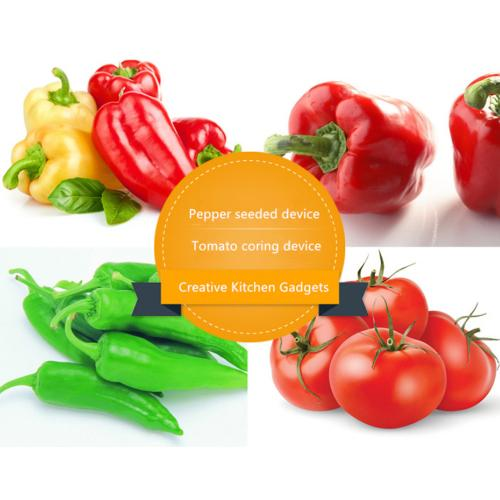Eutuxia Bell Pepper Corer, Twist to Core & Seed Bell & Chili Peppers! [2 Pieces]