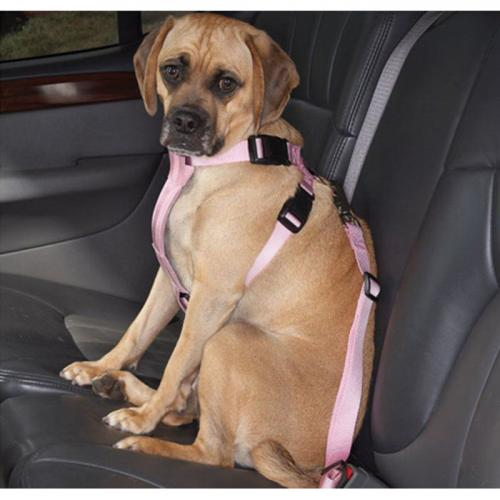 Adjustable Pet Car Seat Belt [Pink] Keep Your Dog Safely Restrained While Driving!