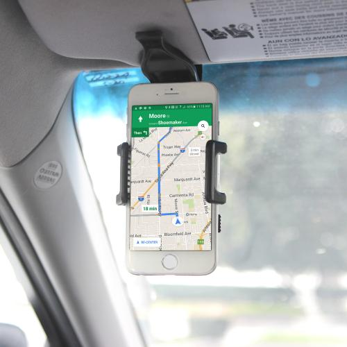 Visor Holder Mount For Phones & PDA's [Black]