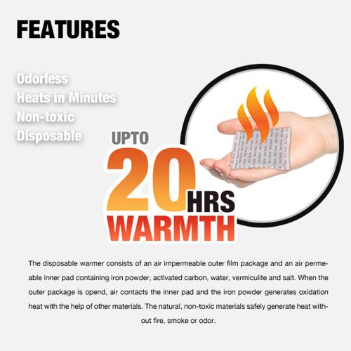 Owlheat [pocket Body Warmer - 160 Pack/160 Pieces] Disposable Self Heating Pocket Body Warmers - Up To 3200 Hours Of Total Warmth!