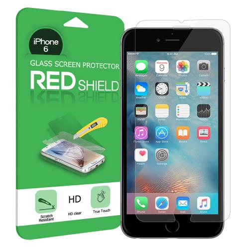 Made for Apple iPhone 6S Plus / 6 Plus Bundle: Flexible Crystal Silicone Clear Gel Skin Case + Tempered Glass Screen Protector + Phone Ring Stand Holder + Portable, Foldable Smartphone Stand by Redshield