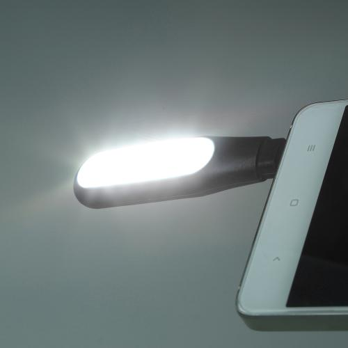 Portable Spotlight, iPhone/ iPad Lightning Port Mini LED Flash Light [Black] - Take the Perfect Selfie!