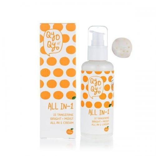 [Qyo Qyo] All In-1 Cream, Tangerine Bright + Moist, Toner + Essence + Lotion - Made w/ Tangerine Peel from Jeju
