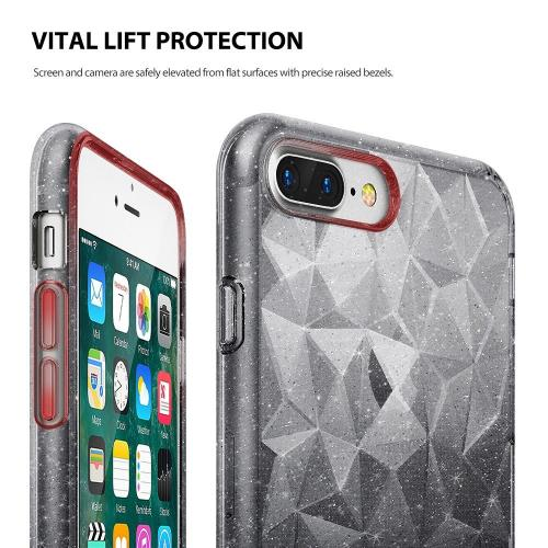 Apple iPhone 8 Plus / 7 Plus / 6S Plus / 6 Plus Case, Ringke [AIR PRISM GLITTER] TPU Flexible Sparkle Slim 3D Design Cover - Gray