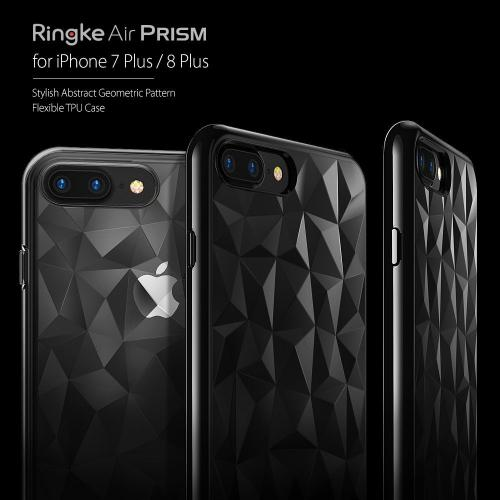 [Ringke] Apple iPhone 8 Plus / 7 Plus Case, [AIR PRISM] 3D Geometric Design TPU Fashion Textured Protective Cover [Rose Gold]