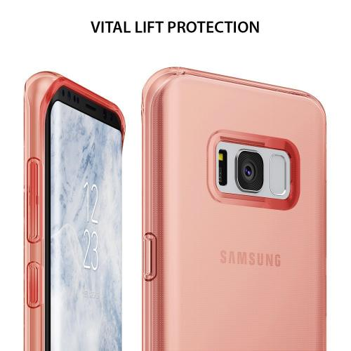 Samsung Galaxy S8 TPU Case, Ringke [Air Series] Extreme Featherweight Flexible Supple TPU Sturdy & Vital Protective Skin Cover for Samsung Galaxy S8 [Rose Gold Crystal]