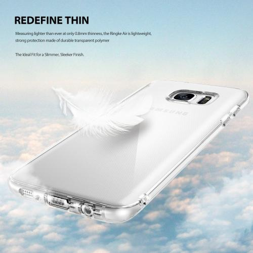 Samsung Galaxy S7 Edge Case, Ringke [AIR][Clear] Extreme Lightweight Soft Flexible TPU Case