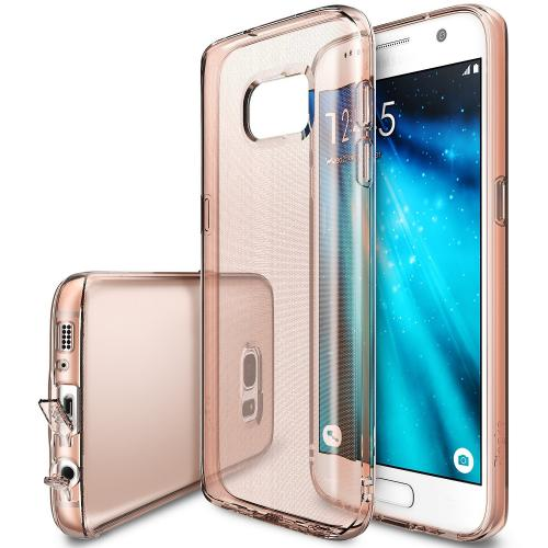 Samsung Galaxy S7 Case, Ringke [AIR][Rose Gold Crystal] Extreme Lightweight Ultra-Thin Flexible TPU Case