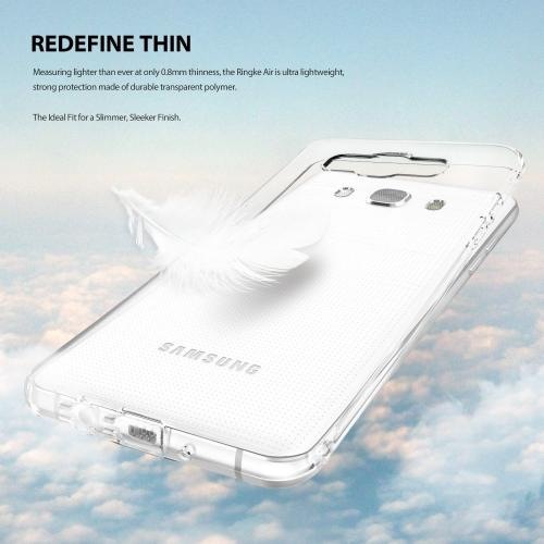 Samsung Galaxy J5 Case, Ringke [AIR] [Clear] Ultra-Thin Lightweight TPU Flexible Case for Samsung Galaxy J5