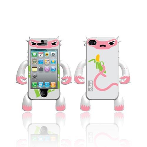 Original Nugo Labs Robotector AT&T/ Verizon Apple iPhone 4, iPhone 4S Silicone Case - White Monkey Mildred - XXIP4