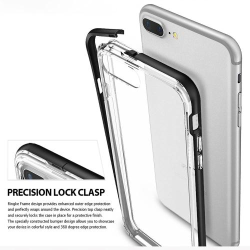 [Ringke] Apple iPhone 8 Plus / 7 Plus Case, [FRAME] Vibrant Shockproof Stylish Contour Bumper Protection Border Cover[Slate Metal]