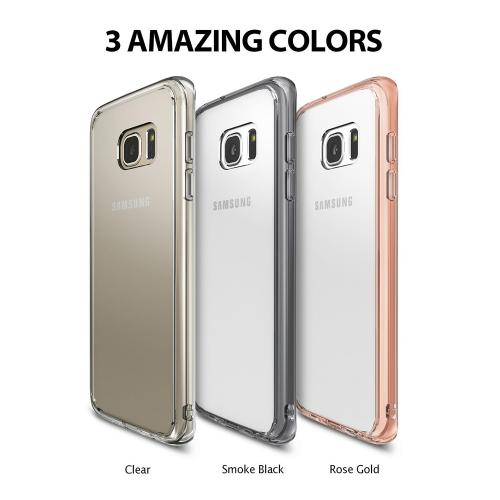 Samsung Galaxy A5 2017 Case, Ringke [FUSION] Shock Absorption TPU Bumper Clear Case - Rose Gold
