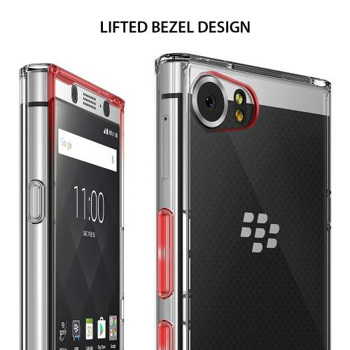 BlackBerry KEYone Case, Ringke [FUSION] Crystal Clear PC Back TPU Bumper Drop Protection Cover - Clear